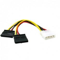 Câble en Y Molex vers 2x Sata